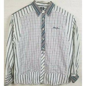 Men's Vintage Phat Farm Striped Button Down Shirt